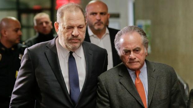 Harvey Weinstein, left, arrives at New York Supreme Court with his attorney Benjamin Brafman, Thursday, Dec. 20, 2018, in New York. (AP Photo/Seth Wenig)