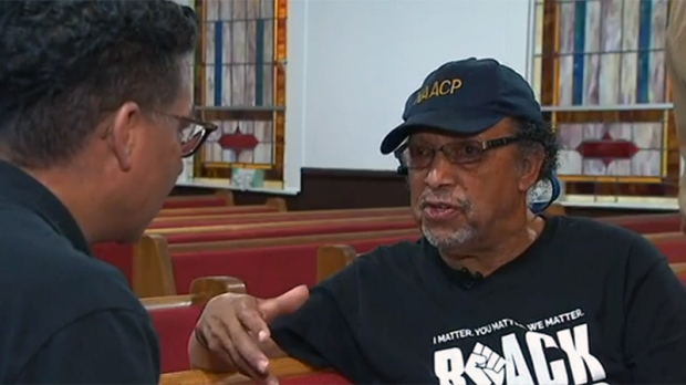 Rev. Ezekiel Holly with Richard Madan (CTV News)