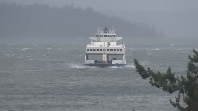 BC ferries storm choppy waters