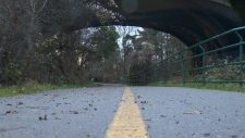 A portion of the Galloping Goose Trail is seen in this file photo. (CTV Vancouver Island)
