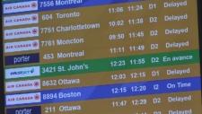 Flights delayed