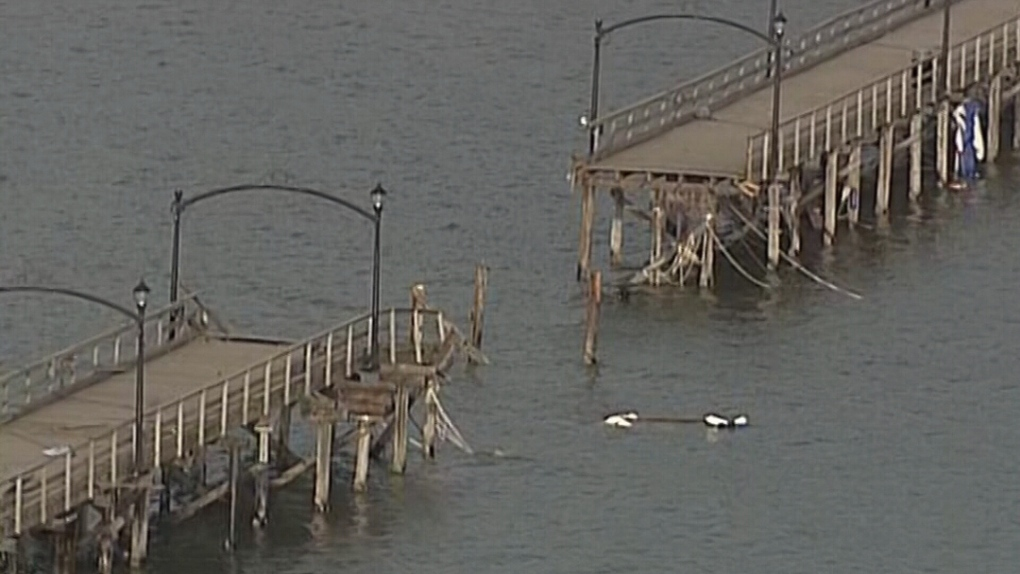 White Rock Pier damaged in storm