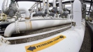 A Vancouver-based environment charity is readying itself to go back to court if -- or they believe when -- the federal government reapproves the Trans Mountain pipeline expansion next year. Pipes are seen at the Kinder Morgan Trans Mountain facility in Edmonton, Thursday, April 6, 2017. THE CANADIAN PRESS/Jonathan Hayward