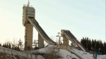 Ski jumps at WinSport Canada's Canada Olympic Park