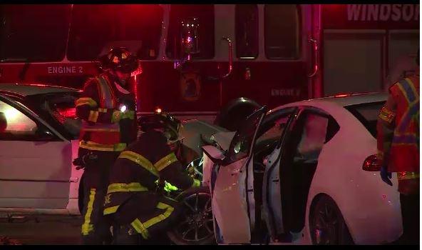 Emergency Personnel On Scene Of A Crash Wyandotte Street East Near St Luke Road