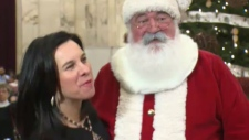 Valerie Plante and Santa