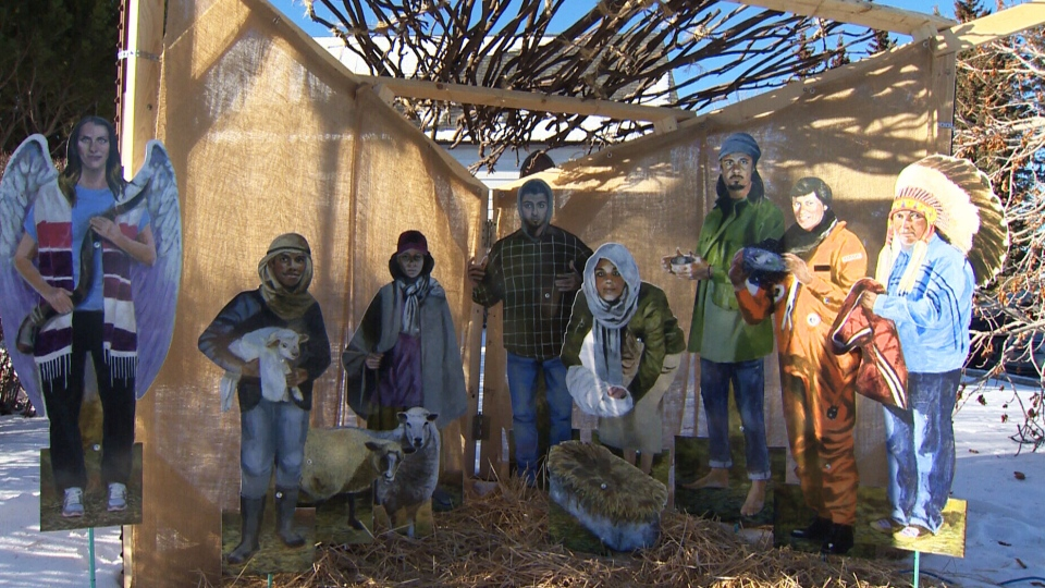 Calgary's Red Deer Lake United Church is putting a contemporary spin on the classic Christmas nativity scene by including more diverse faces.