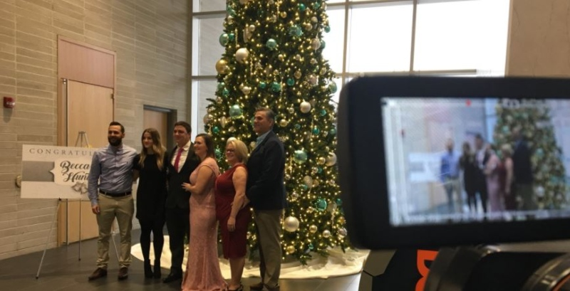 Christmas Eve wedding in Windsor for Rebecca Kralovensky and Hunter Bushnell