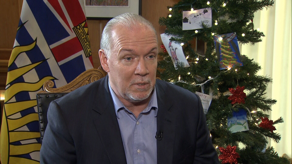 B.C. Premier John Horgan speaks to CTV News in December 2018.