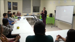Among the services offered at Bienvenue a Notre-Dame-de-Grace are daily French lessons, legal services, winter wardrobes, and even workshops to help newcomers acclimate to the cold weather. (CTV Montreal)