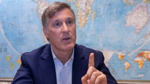 People's Party leader Maxime Bernier is seen during an interview with The Canadian Press in Montreal on Friday, December 14, 2018. THE CANADIAN PRESS/Paul Chiasson