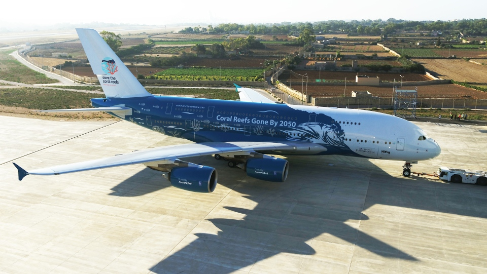 An Airbus A380 leased by Lisbon-based Hi Fly (Hi Fly)
