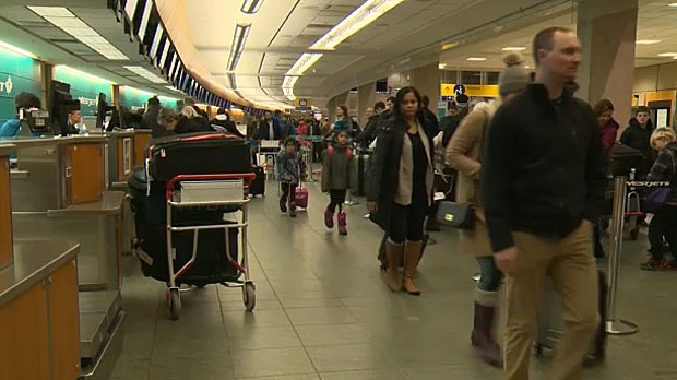 Nearly 50,000 passengers are expected to use the Calgary International Airport on Thursday, the busiest travel day of the holiday season.