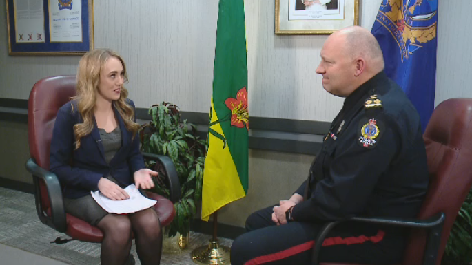 Gina Martin sitting down with Regina Police Service Chief Evan Bray to talk about 2018.