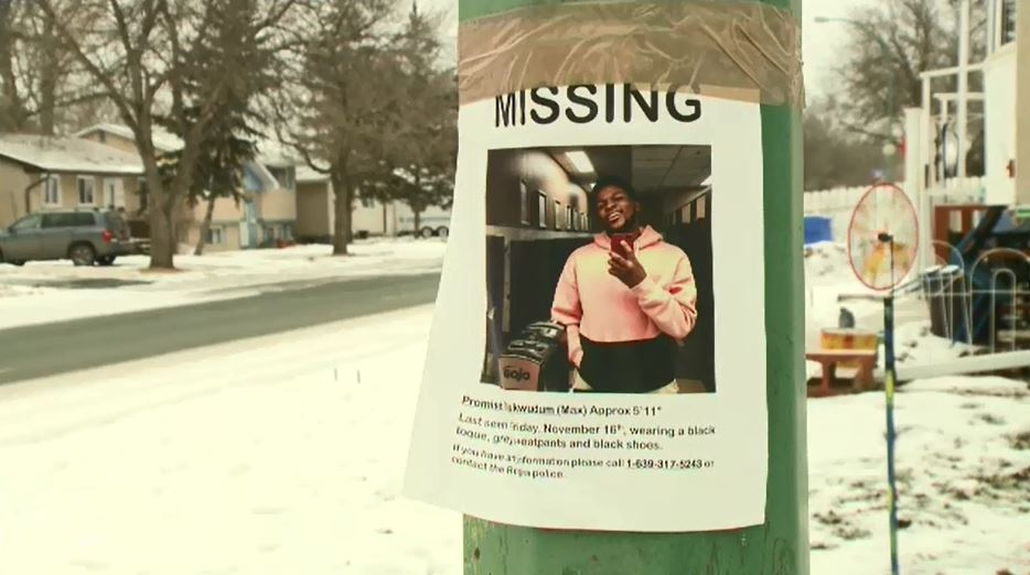 Regina Police have confirmed a body found last Friday is that of missing international student Promise 'Max' Chukwudum.