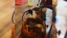Social media video allegedly shows a rat being lifted out of bread bowl on a spoon at Crab Park Chowdery. (Instagram)