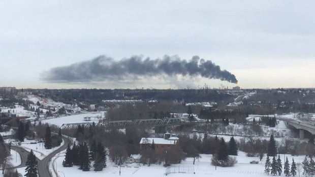 A flare up at a refinery in Sherwood Park caused the smoke in the Edmonton skies Friday.