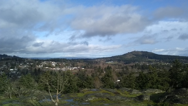 Dec. 28, 2018: Christmas Hill with a view of Mt. Doug. (Courtesy Tommy B.)