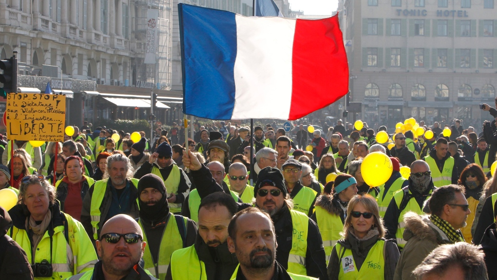 French yellow vest march has lukewarm relaunch after virus