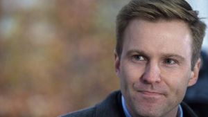 New Brunswick Liberal Leader Brian Gallant answers questions from the media after meeting with Lieutenant Governor of New Brunswick Jocelyne Roy-Vienneau at Government House in Fredericton on Friday, Nov. 2, 2018. Gallant has always had a plan. But now, at 36, the future of New Brunswick's youngest ex-premier is a question mark. THE CANADIAN PRESS/James West