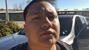 This Saturday, Dec. 29, 2018, photo provided by the California Department of Corrections and Rehabilitation (CDCR) shows Shalom Mendoza after his capture in Paso Robles, Calif. (California Department of Corrections and Rehabilitation via AP)