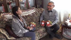 When health complications began taking a toll on her friend Leslie Labobe (right), Madlene Sark (left) collected 365 messages of love and support so that he would have something to lift his spirits every day for a year. (CTV Atlantic)