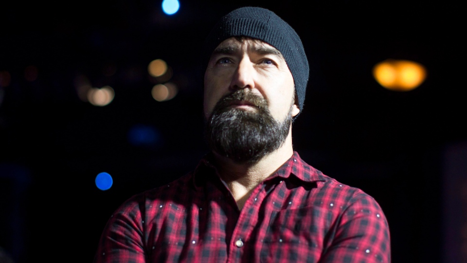 """Walk Off the Earth's Mike Taylor, known as """"Beard Guy"""" attends the announcement of the nominees for the Juno Awards at an event in Toronto on Tuesday February 2, 2016. (THE CANADIAN PRESS/Chris Young)"""