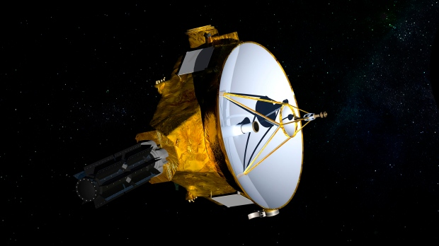 Illustration depicts the New Horizons spacecraft