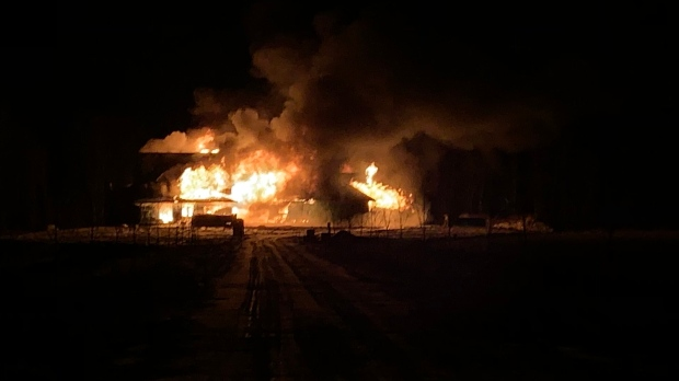home under construction goes up in flames ctv news london