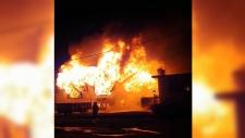 Saanich house fire