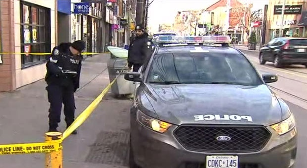 Police are investigating an assault near Queen and Bathurst streets that left one man critically injured.