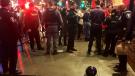 Windsor Police investigate an assault on on Ouellette Ave. on Jan. 1, 2019. (Gord Bacon/AM800)
