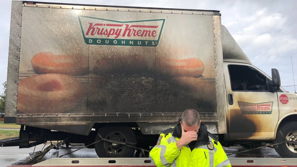 Kentucky police 'mourn' loss of doughnut truck in fire