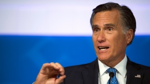 "File-This Oct. 9, 2018, file photo shows Republican U.S. Senate candidate Mitt Romney answering a question about tariffs during the debate with Democratic opponent Jenny Wilson in the America First Event Center in Cedar City, Utah. Utah Sen.-elect Romney says President Donald Trump's ""conduct over the past two years ... is evidence that the president has not risen to the mantle of the office."" Romney, who was the Republican presidential nominee in 2012, is praising some of Trump's policy decisions in a Washington Post op-ed published Tuesday, Jan. 1, 2019. But he adds: ""With the nation so divided, resentful and angry, presidential leadership in qualities of character is indispensable. And it is in this province where the incumbent's shortfall has been most glaring.""(James M. Dobson/The Spectrum via AP, File)"