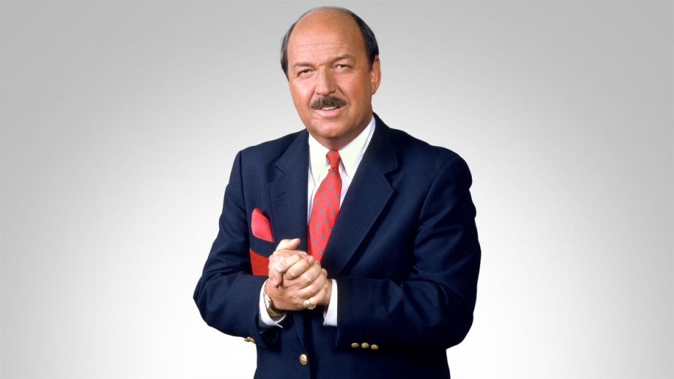 """WWE announcer and interviewer """"Mean"""" Gene Okerlund has died of undisclosed causes at the age of 76. (WWE)"""