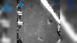 Chang'e-4 probe image taken during landing