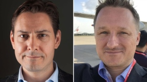 Michael Kovrig, left, Michael Spavor are seen in this composite image.