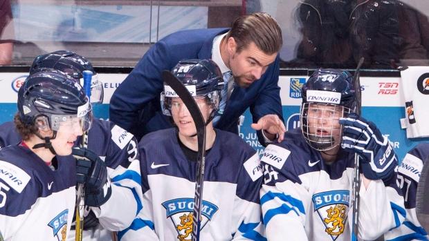 3cd08fed18a Finnish hockey coach celebrates win