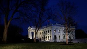 Dusk falls over the White House, Thursday, Dec. 20, 2018, in Washington, D.C.. (AP Photo/Jacquelyn Martin)