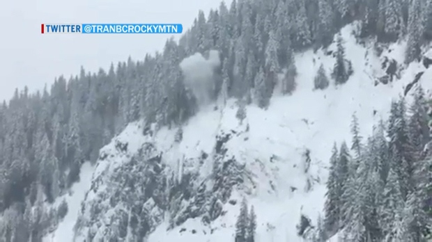 Controlled avalanche - Trans-Canada Highway