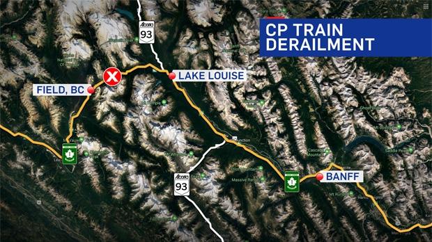 CP Rail derailment - Field, BC