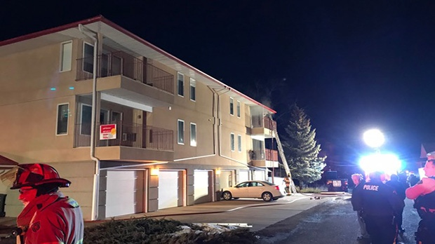 A woman died after she was pulled from a fire at an apartment in Coaldale on Friday, January 4, 2019. (Courtesy: Coaldale RCMP)