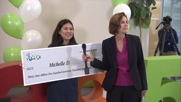Surrey woman says $39.5-million Lotto Max win an 'amazing blessing'