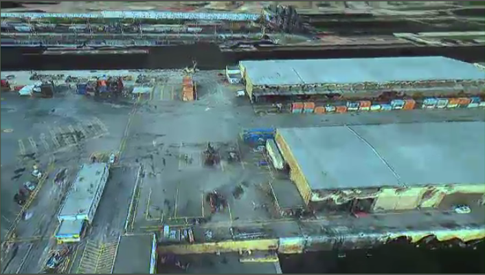 3D rendering of port of Montreal