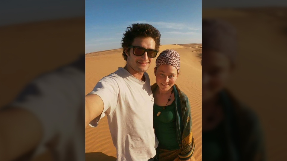 The pair was supposed to travel to Togo for humanitarian work. (Edith Blais et Luca Tacchetto : disparition au Burkina Faso/Facebook)