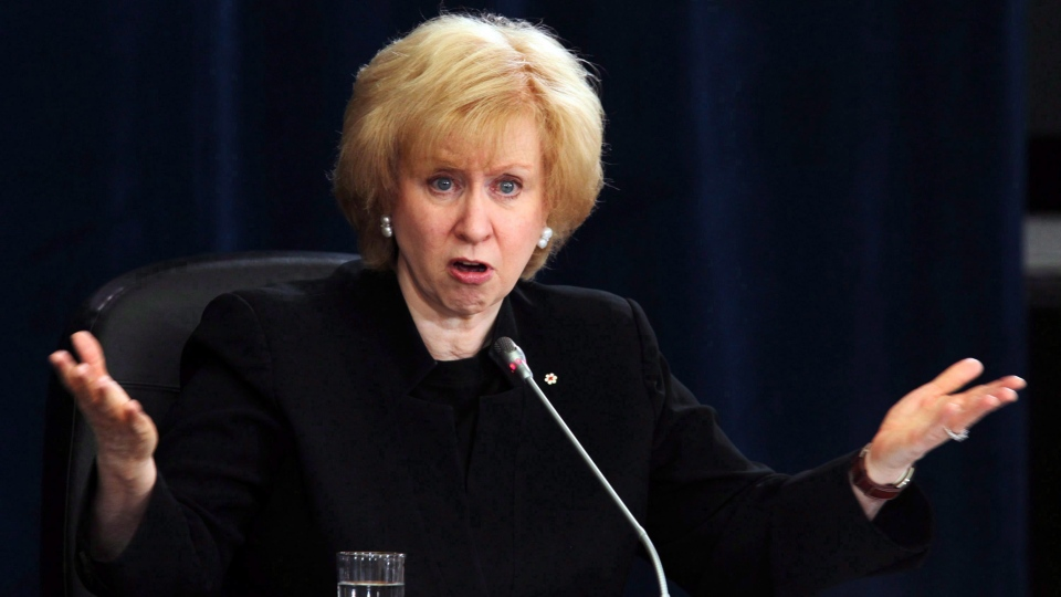 In this file photo, former prime minister Kim Campbell testifies before the Oliphant Commission in Ottawa, Wednesday, April 29 2009. (THE CANADIAN PRESS/Fred Chartrand)