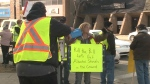 Yellow vest protest in Lethbridge