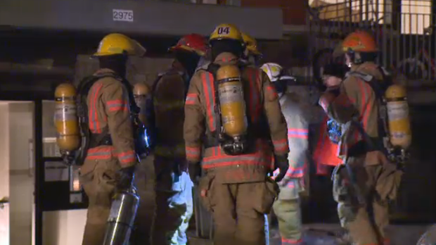 One woman suffered cardiac injuries during the blaze and is being treated by Urgences-Sante. (CTV Montreal)