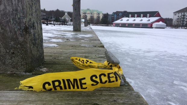 opp crime tape muskoka wharf gravenhurst