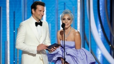 Bradley Cooper and Lady Gaga at Golden Globes
